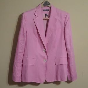 Ralph Lauren  - Pink Single Breast Blazer-Size 10